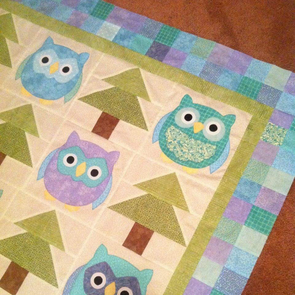 Update on Owls! | SarahRose Quilts — Blog : owl applique quilt pattern - Adamdwight.com