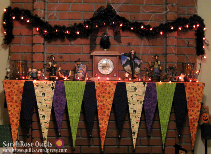 halloween mantel scarf pictures
