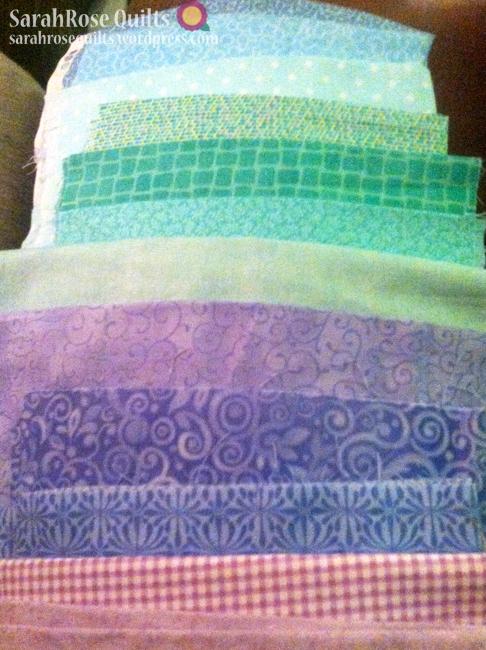 Pastel Purple and Green Fabrics