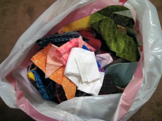 Bag of Scrap Fabric