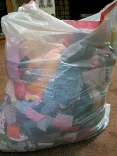 Bag of Fabric Scraps