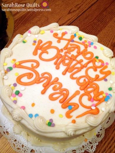 Happy Birthday Sarah! Cake