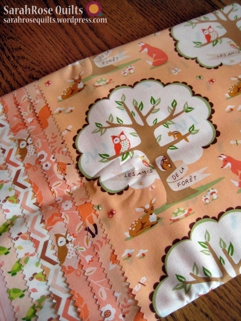 Fat Quarter collection of Les Amis in Merci Colorway by Patty Sloniger for Michael Miller Fabrics