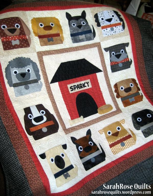 Dog Days Applique Quilt Pattern SarahRose Quilts