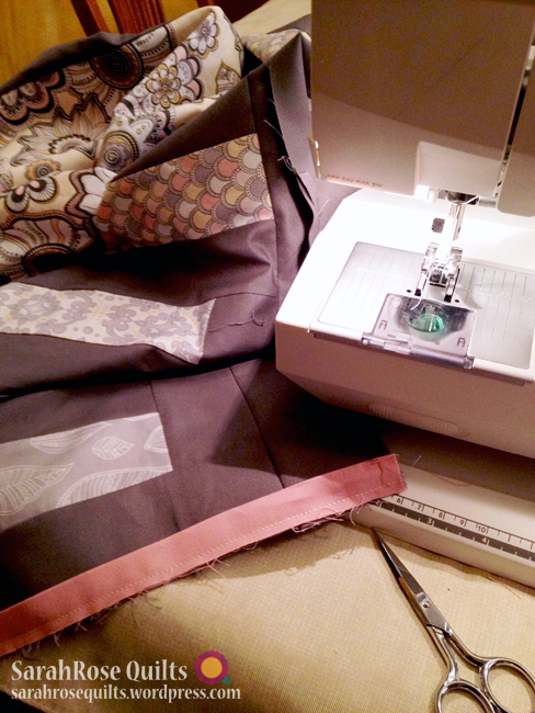 Modern Bliss Fabric Line - Sewing a Flange