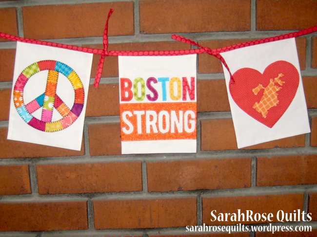 Flags by SarahRose Quilts for To Boston With Love Project