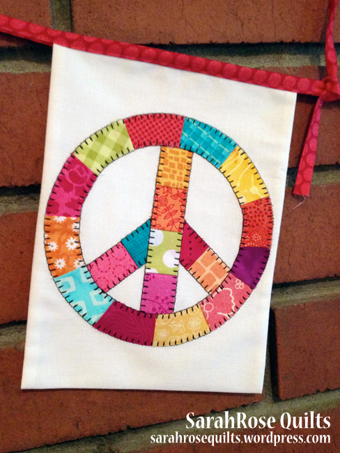Pieced Peace Sign Flag – To Boston with Love Project