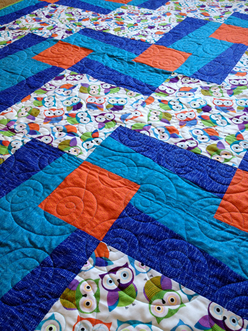 BQ3 Quilt - Closeup on Quilting