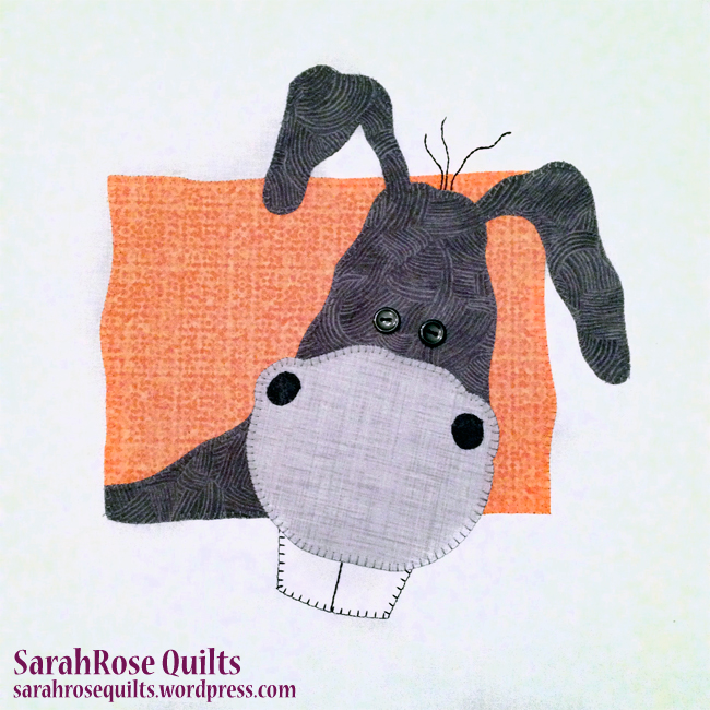 Donkey Animal Whimsy Block of the Month