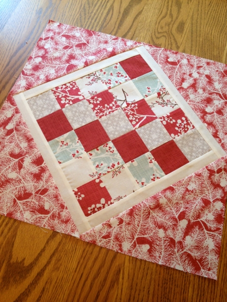 Winter Wonderland Christmas Table Topper Pieced Center