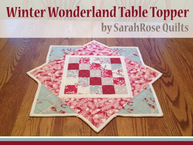 Winter Wonderland Christmas Table Topper