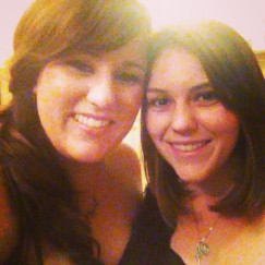 My sister and I at the wedding