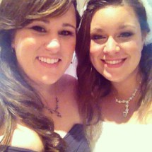 My best friend (the bride) and me
