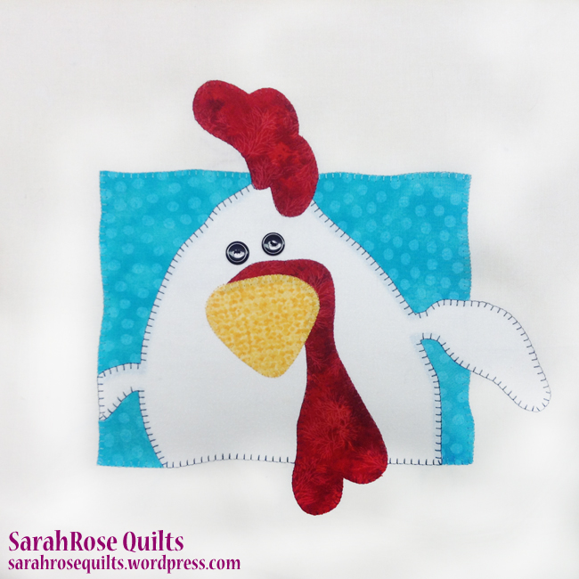 Rooster Animal Whimsy Block of the Month